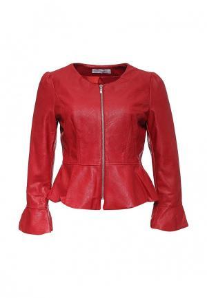 Куртка кожаная Rinascimento. Цвет: красный