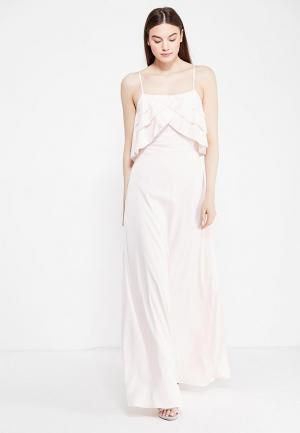 Платье LOST INK THE WARDROBE- NICOLE RUFFLE PICOT DETAIL DRESS. Цвет: розовый