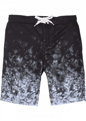 Пляжные бермуды с принтом bonprix. Цвет: черный
