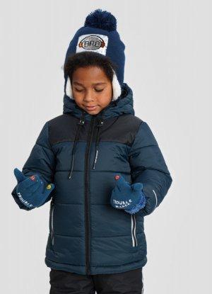Утеплённая куртка для мальчиков O`Stin. Цвет: глубокий зеленый
