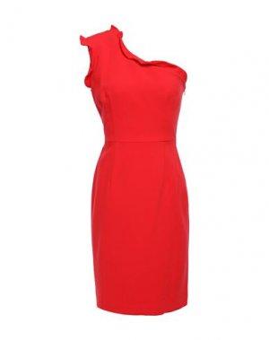Короткое платье BLACK HALO. Цвет: коралловый