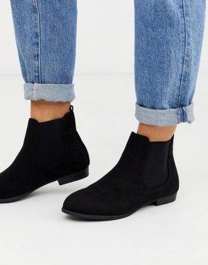 Черные ботинки челси -Черный New Look