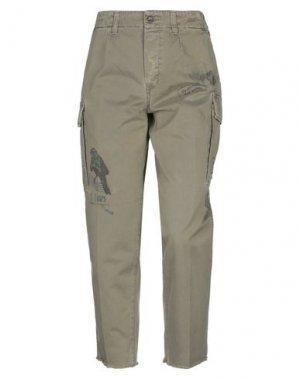 Повседневные брюки DON THE FULLER. Цвет: зеленый-милитари