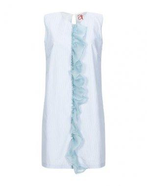 Короткое платье ANDREA TURCHI. Цвет: небесно-голубой