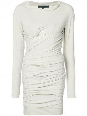 Короткое платье-бюстье со сборками Alexander Wang. Цвет: нейтральные цвета