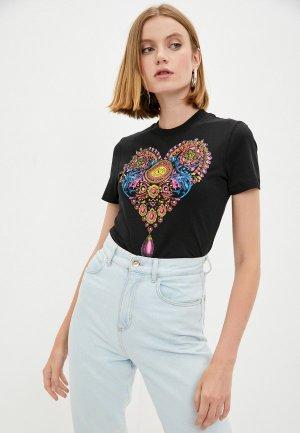 Футболка Versace Jeans Couture. Цвет: черный
