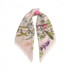 Шелковый платок Scottish rose Radical Chic. Цвет: розовый