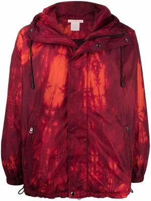 Куртка с капюшоном и графичным принтом Acne Studios. Цвет: красный