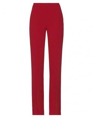 Повседневные брюки CLIPS. Цвет: красно-коричневый