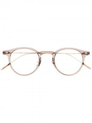 Солнцезащитные очки Jojo BRC4 в круглой оправе Gentle Monster. Цвет: коричневый