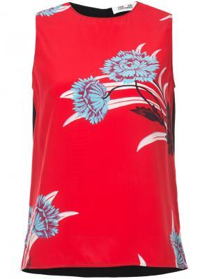 Топ с принтом Farren Dvf Diane Von Furstenberg. Цвет: красный