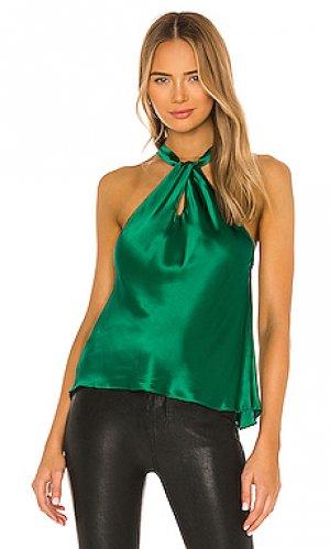 Блузка wanda Amanda Uprichard. Цвет: зеленый