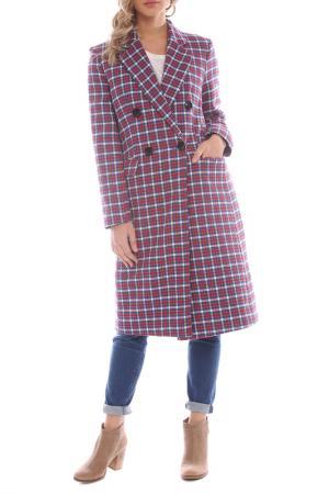 Coat Moda di Chiara. Цвет: red, blue, white