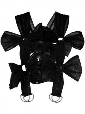 Портупея с бантами Comme Des Garçons Noir Kei Ninomiya. Цвет: черный