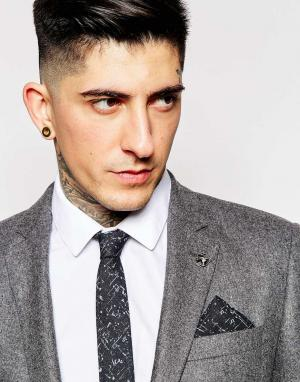 Галстук и платок для пиджака Minimum. Цвет: черный