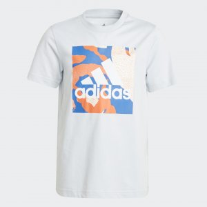 Футболка Camo Graphic Performance adidas. Цвет: синий