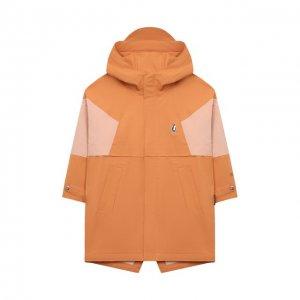 Дождевик с капюшоном Gosoaky. Цвет: оранжевый