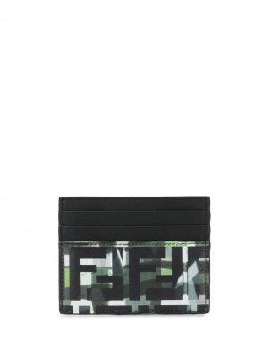 Картхолдер с камуфляжным принтом Fendi. Цвет: черный