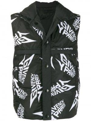 Двусторонний жилет с логотипом Givenchy. Цвет: черный