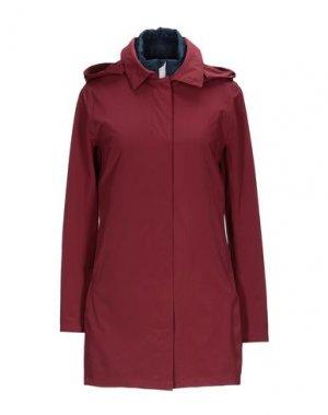Легкое пальто PEOPLE OF SHIBUYA. Цвет: красно-коричневый