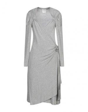 Платье до колена DIVINA. Цвет: серый