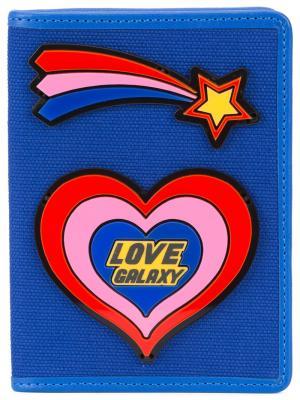 Обложка для паспорта Yazbukey. Цвет: синий