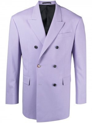 Пиджак на пуговицах Versace. Цвет: фиолетовый