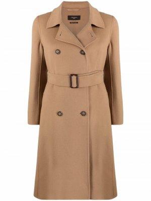 Пальто Struzzo Weekend Max Mara. Цвет: коричневый