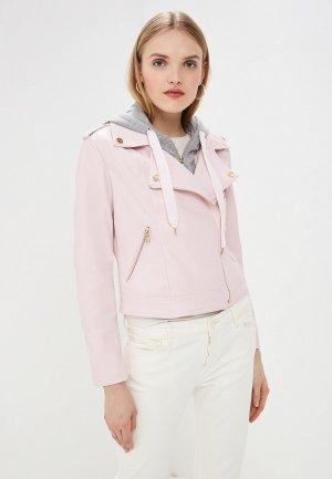 Куртка кожаная Twinset Milano. Цвет: розовый