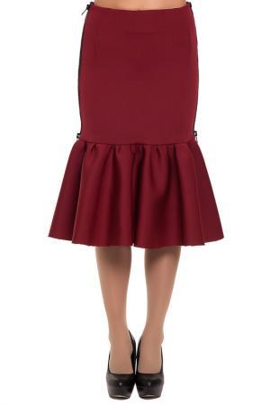 Юбка Gloss. Цвет: бордовый, черный