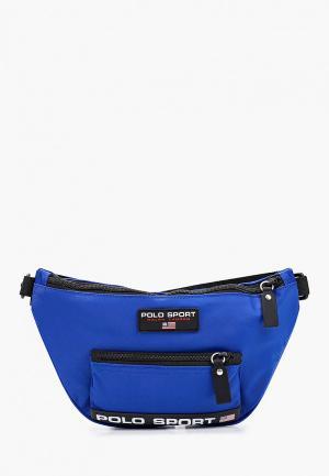 Сумка поясная Polo Ralph Lauren. Цвет: синий