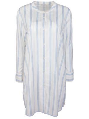 Хлопковая удлиненная рубашка BILANCIONI. Цвет: разноцветный