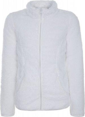 Джемпер флисовый для девочек , размер 116 Outventure. Цвет: белый