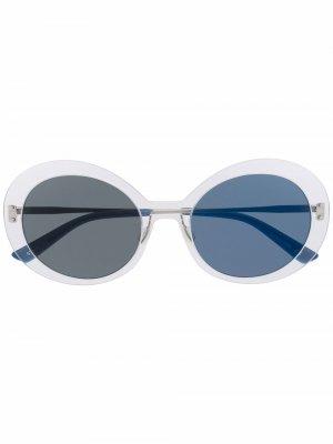 Солнцезащитные очки Archive в круглой оправе Christian Roth. Цвет: синий
