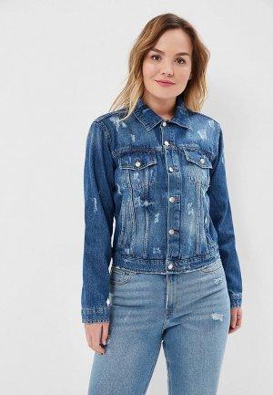 Куртка джинсовая Lime. Цвет: синий