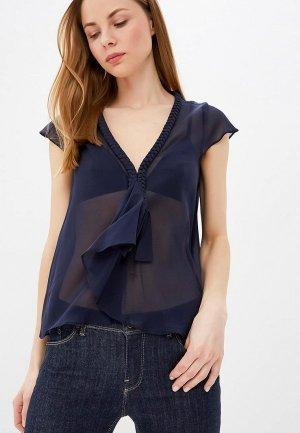 Блуза Emporio Armani. Цвет: синий