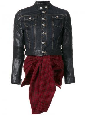 Куртка комбинированного кроя Dsquared2. Цвет: чёрный
