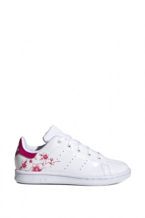 Кеды STAN SMITH C adidas. Цвет: белый