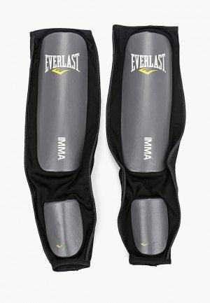 Защита Everlast голени, MMA PU. Цвет: черный