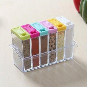 1 набор 6 в коробка для приправы SHEIN. Цвет: многоцветный