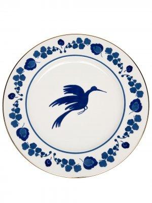 Тарелка Wildbird La Doublej. Цвет: белый