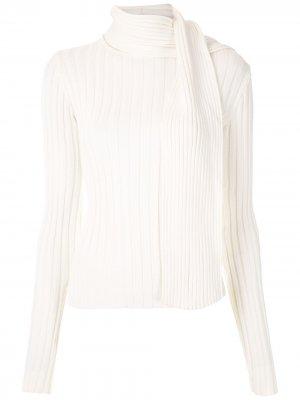 Трикотажная блузка с шарфом Gloria Coelho. Цвет: нейтральные цвета