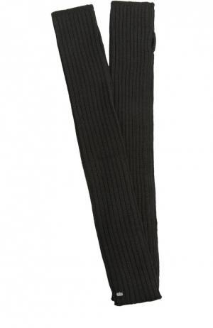 Вязаные перчатки Rick Owens. Цвет: черный