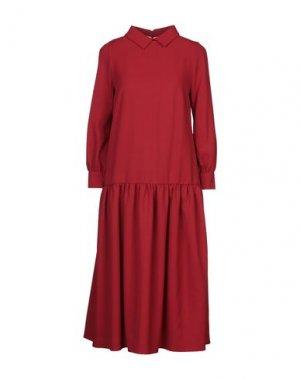 Платье длиной 3/4 ANDREA TURCHI. Цвет: красный