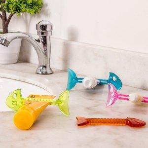 Соковыжималка для зубных паст случайного в форме рыбы 1шт SHEIN. Цвет: многоцветный