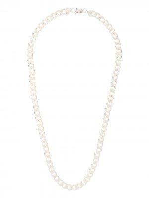 Cuban chain necklace Hatton Labs. Цвет: серебристый