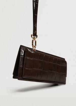 Бумажник с эффектом крокодила - Savana Mango. Цвет: шоколадный