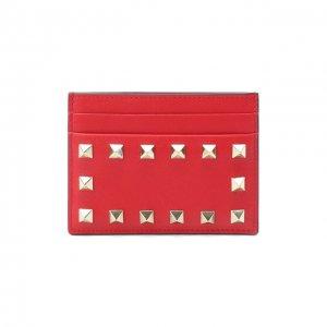 Кожаный футляр для кредитных карт Garavani Valentino. Цвет: красный