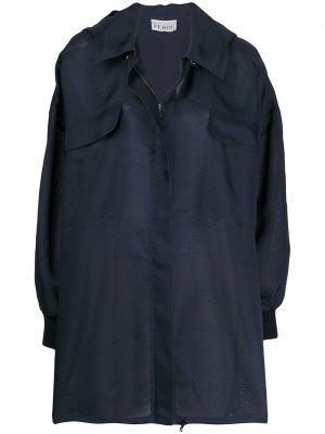 Плащ с потайной застежкой и капюшоном Gianfranco Ferré Pre-Owned. Цвет: синий