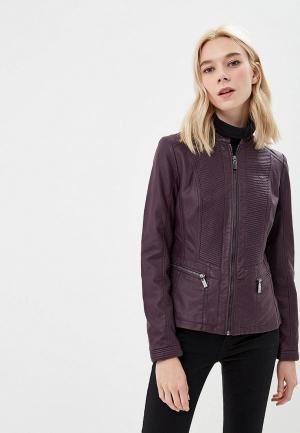 Куртка кожаная Wallis. Цвет: фиолетовый